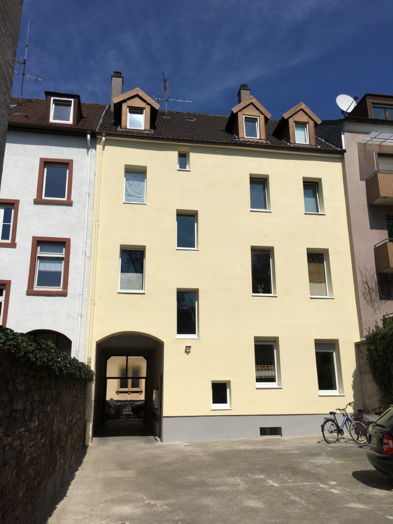 Fassadenarbeiten in der Karlsruher Innenstadt