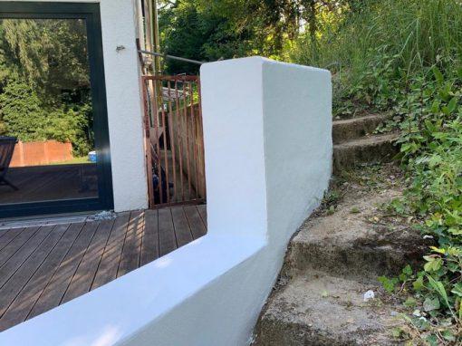Neue Formgebung: Gartenmauer