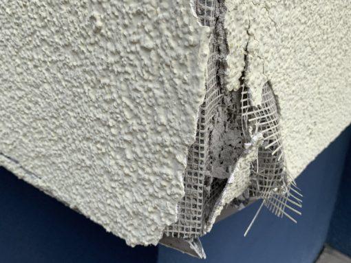 Behebung eines Fassadenschadens