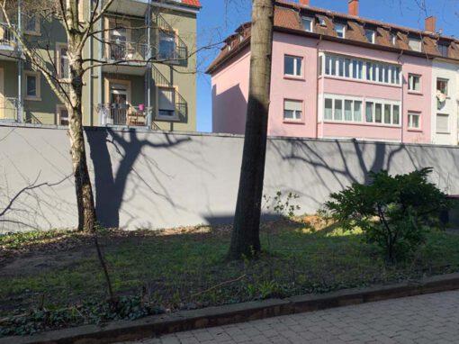 Gartenmauer in neuem Gewand