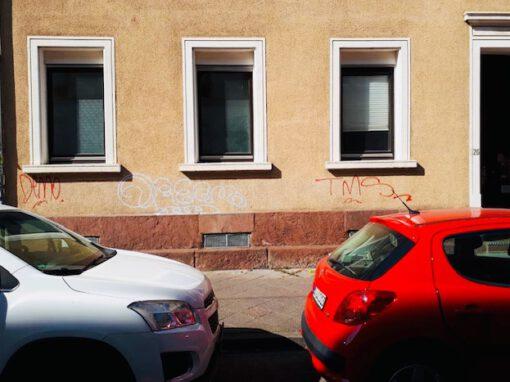 Entfernung von Graffitis