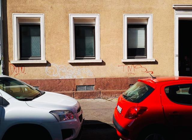 Graffitis auf einer Hauswand